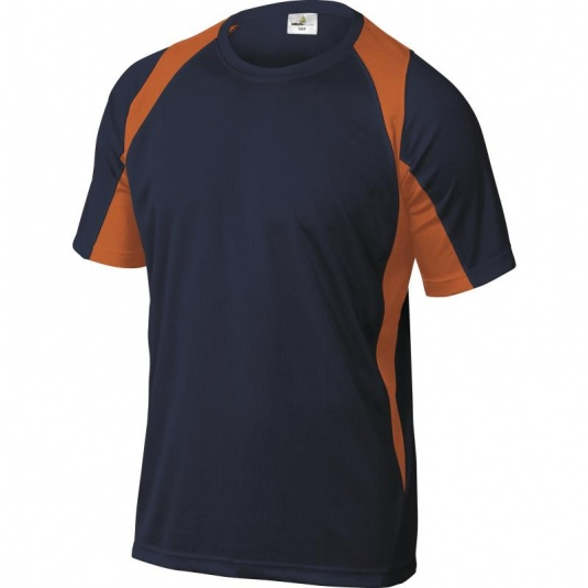 Delta Plus BALI Polyester Orange and Navy T-Shirt