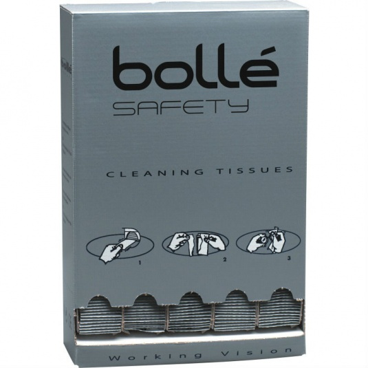 Bollé Cleaning Tissues for Safety Glasses and Goggles B500 (Dispenser of 500 Tissues)