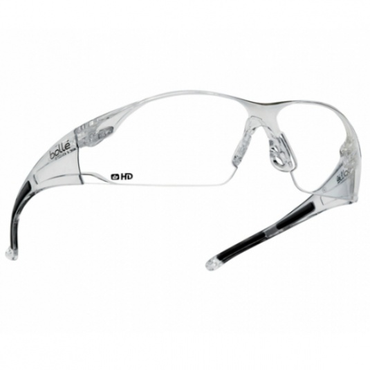 Bollé Rush HD Clear Lens Safety Glasses RUSHDPI