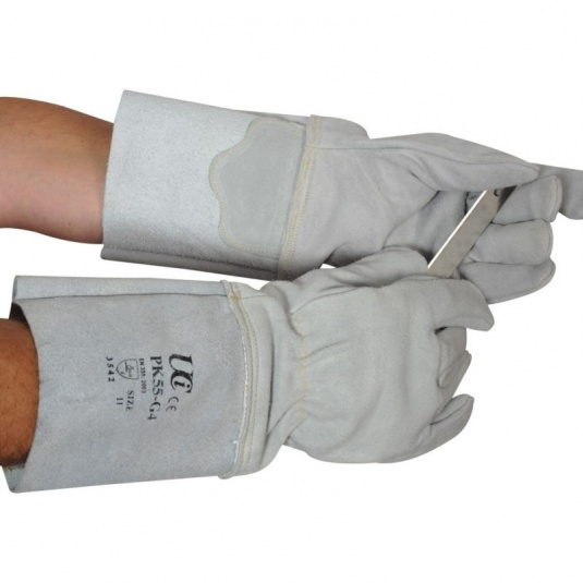 UCi PressKing Cut-Resistant Leather Gloves with Extended Cuffs  PK55-G4
