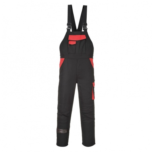 Portwest CW12 Black Warsaw Bib and Brace