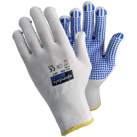 Ejendals Tegera 630 PVC Dot Grip Nylon Gloves