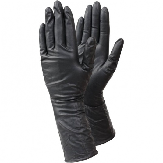 Ejendals Tegera 849 Extra-Long Black Disposable Nitrile Gloves