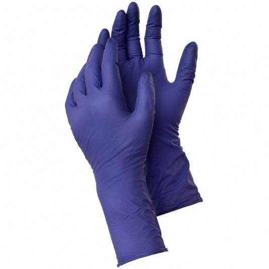Ejendals Tegera 858 Extra-Long Non-Powdered Disposable Nitrile Gloves