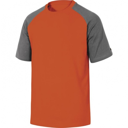 Delta Plus GENOA Grey and Orange Cotton T-Shirt