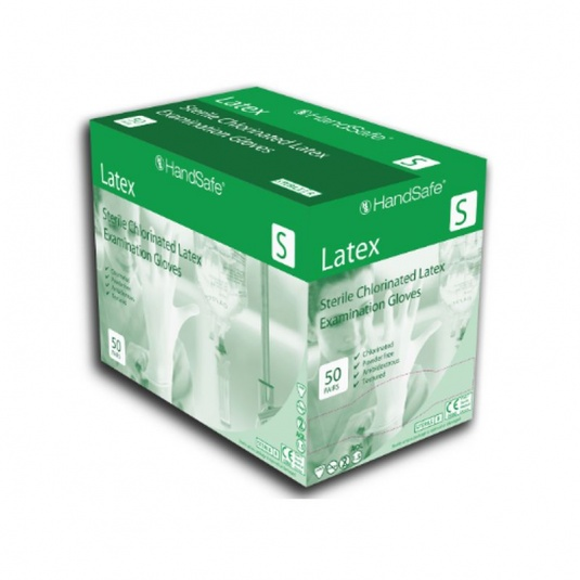 Hand Safe GS21 Sterile Powder-Free Medical Grade Latex Disposable Gloves