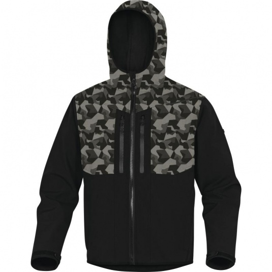 Delta Plus HORTEN2 Black and Camo Thermal Waterproof Softshell Jacket