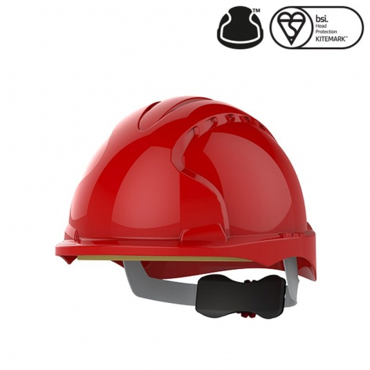 JSP EVO3 Red Electrical Safety Micro Peak Hard Hat
