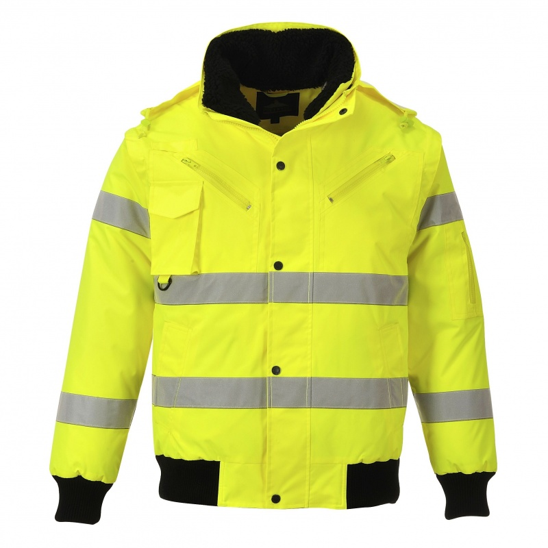 Portwest Hi-Vis 3-in-1 Bomber Jacket Workwear warmth wind resistant  C467