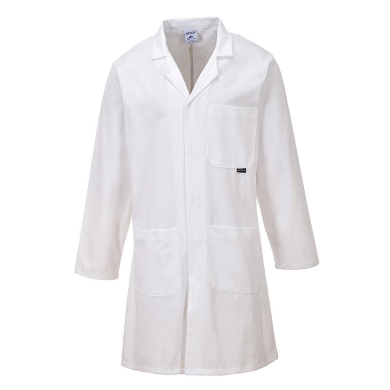 Portwest C851 Standard White Cotton Lab Coat - WorkWear.co.uk
