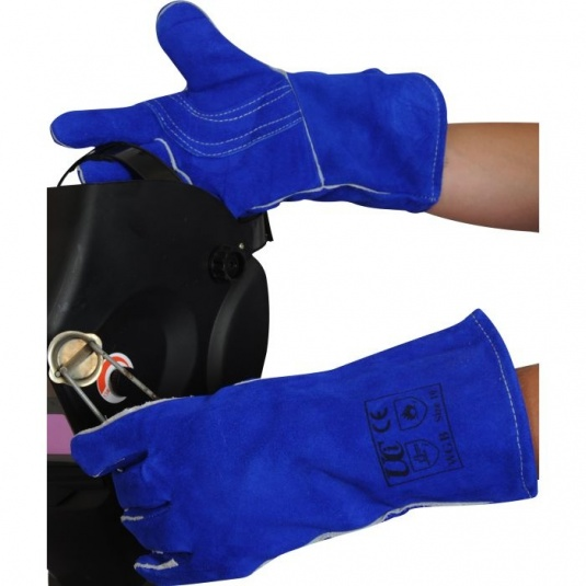 Lined Blue Welding Gauntlets WGB