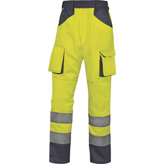 Delta Plus M2PHV Hi-Vis Yellow Working Trousers