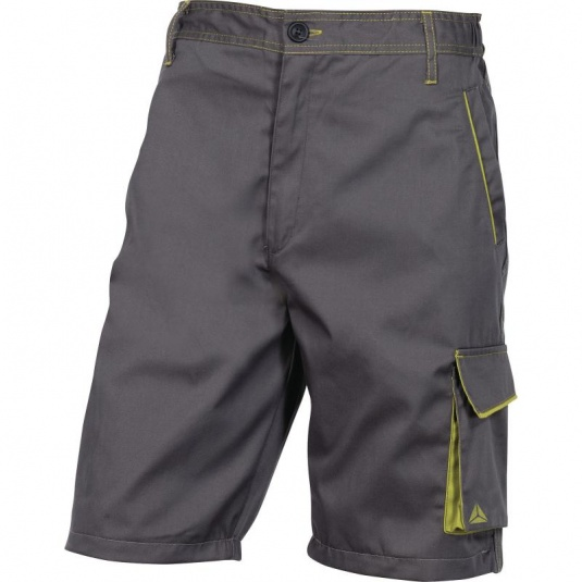 Delta Plus M6BER Grey and Green Bermuda Working Shorts