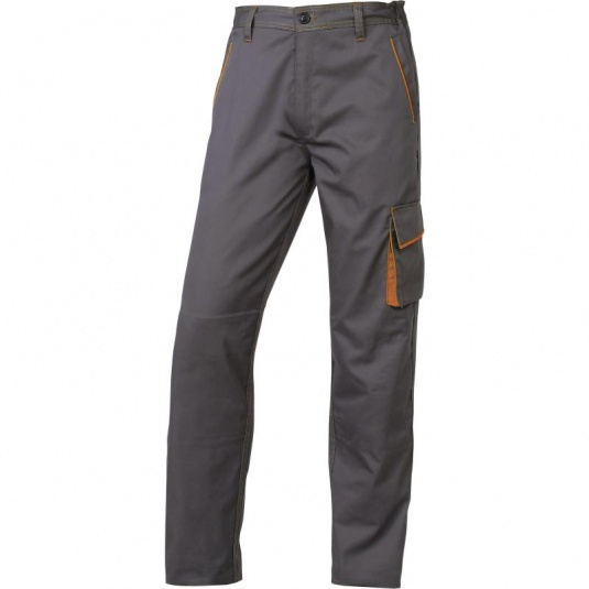 Delta Plus M6PAN Grey and Orange Panostyle Working Trousers