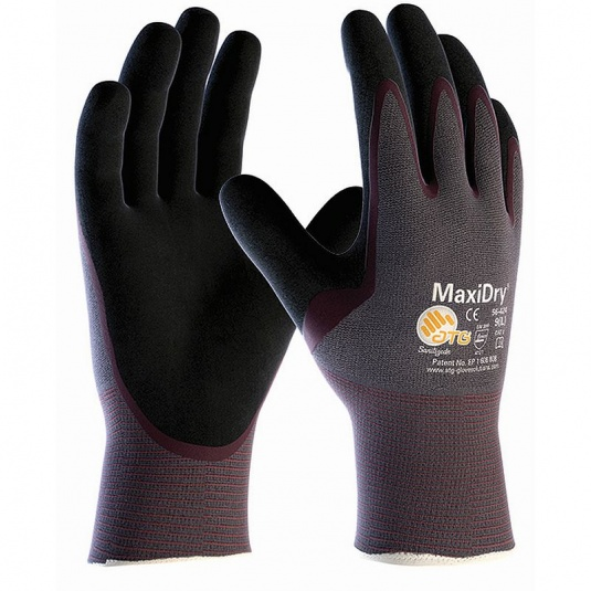 MaxiDry Palm-Coated Oil Repellent Gloves 56-424