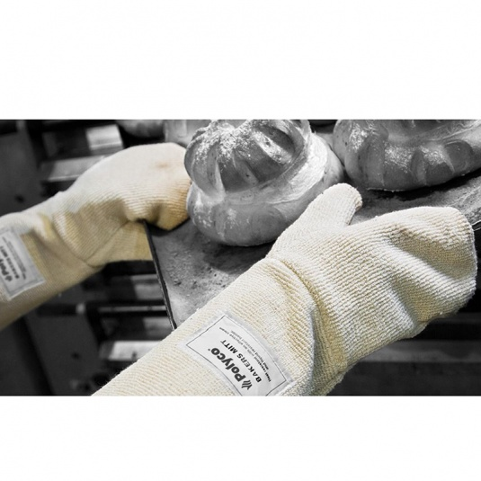 Polyco Bakers Mitt Heat Resistant Safety Gloves 7724