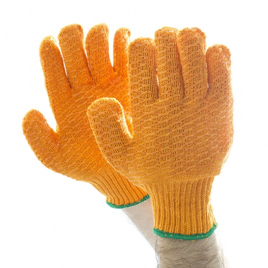 Polyco Criss-Cross PVC Knitted Handling Gloves CSP156MNS