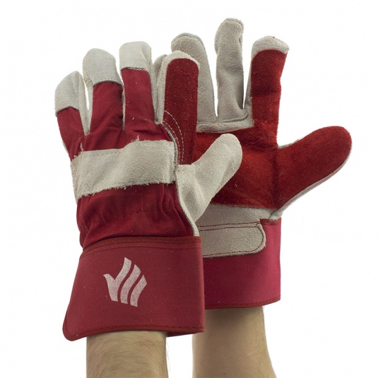 Polyco Rigmaster Palm-Coated Chrome Leather Rigger Gloves LR143DP
