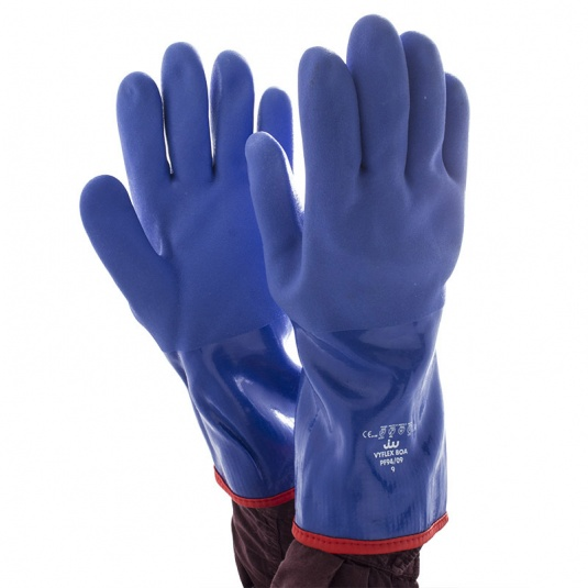 Polyco Vyflex Boa 35cm Latex-Free Insulated PVC Chemical-Resistant Gloves PF94