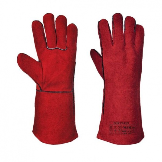 Portwest A500 Red Leather Welding Gauntlets