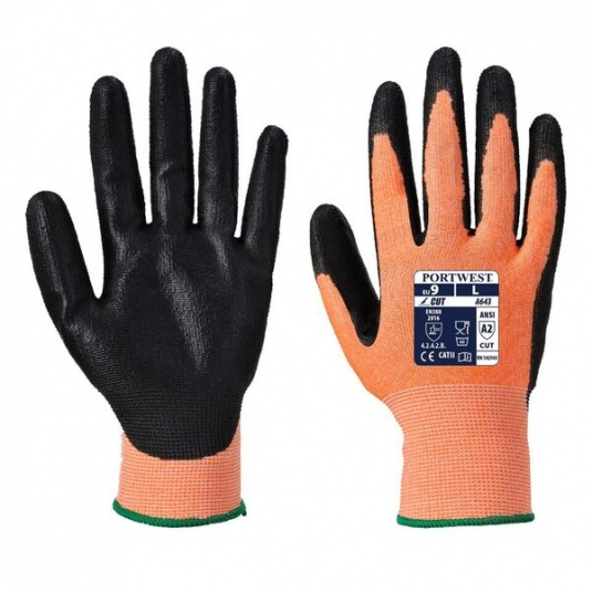 Portwest A643 Nitrile Foam Coated Amber Gloves
