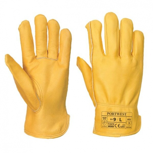 Portwest A270 Classic Drivers Durable Leather Gloves