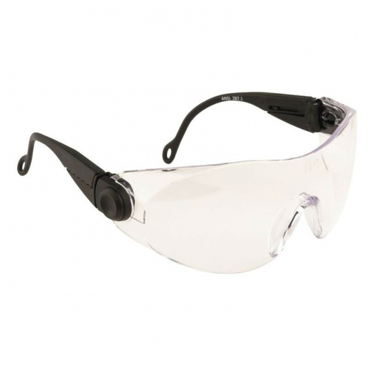 Portwest Contoured Clear Lens Safety Glasses PW31CLR