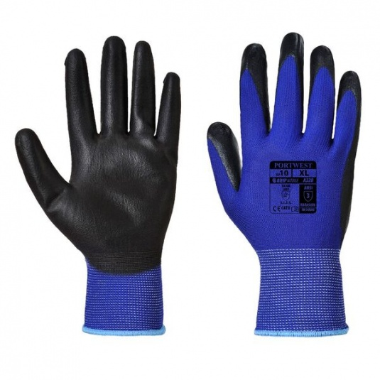 Portwest Dexti-Grip A320BL Nitrile Foam Coated Blue Gloves