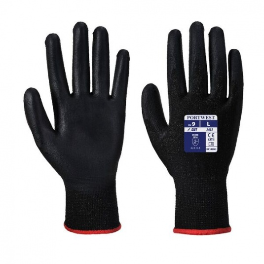 Portwest Polyester PU-Coated Eco-Cut Gloves A635