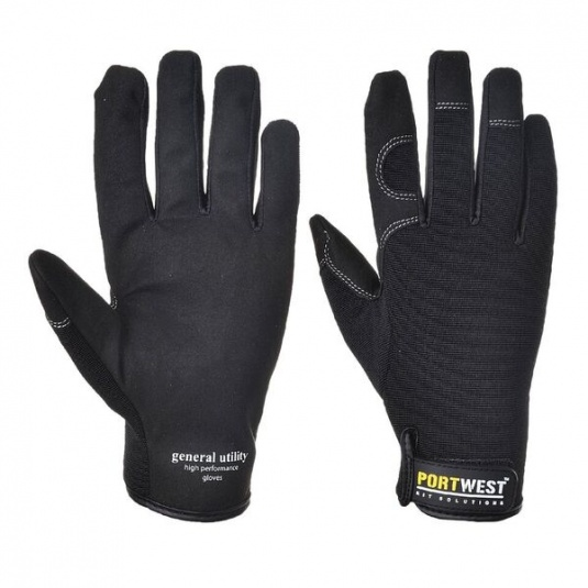 Portwest A700 General Utility High Grip Black Gloves