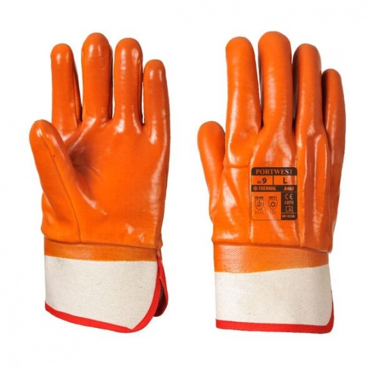 Portwest A460 Weatherproof PVC-Coated Thermal Grip Gloves