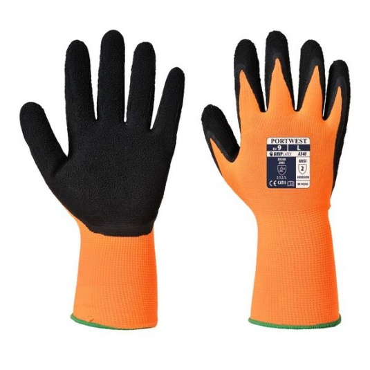 Portwest Hi-Vis Orange and Black Grip Work Gloves A340OR