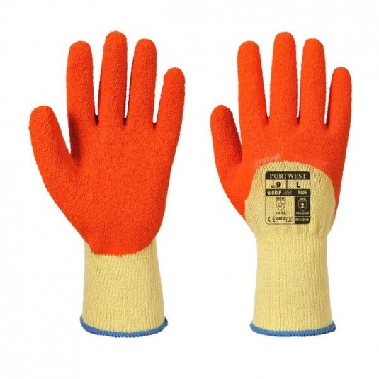 Portwest Xtra A105 3/4 Latex-Coated Grip Gloves