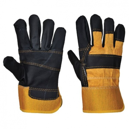 Portwest A200 Leather Rigger Gloves with Safety Cuff