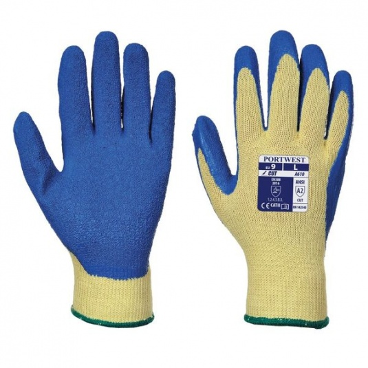Portwest Water-Repellent Latex-Dipped Work Gloves A610