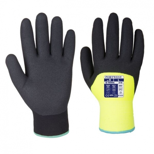 Portwest A146YE Sandy Nitrile 3/4 Dipped Winter Yellow Gloves