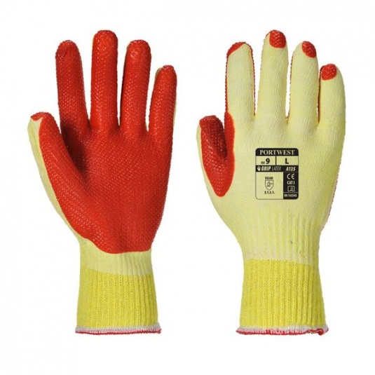 Portwest A135 Polycotton Latex-Coated Grip Gloves