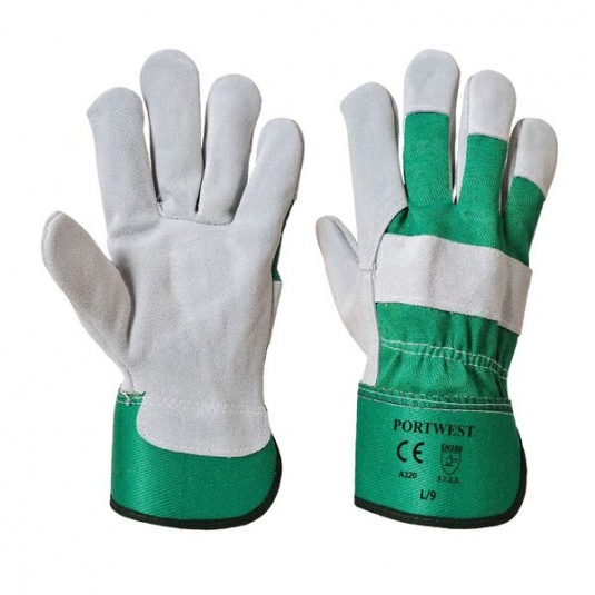Portwest A220GN Chrome Leather Rigger Green Gloves