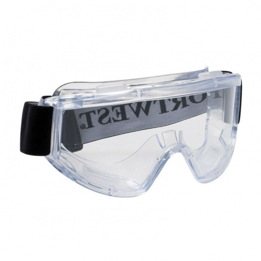 Portwest Challenger Panoramic Clear Lens Safety Goggles PW22CLR