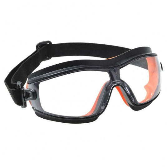 Portwest Clear Slim Wraparound Safety Goggles PW26CLR