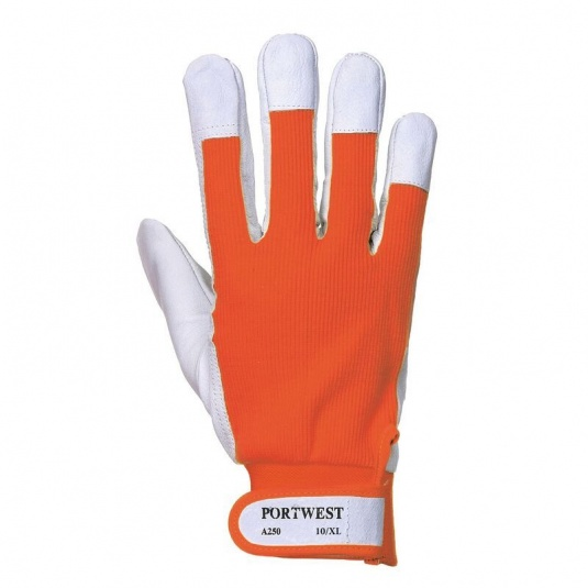 Portwest Tergsus Orange Leather Gloves A250OR
