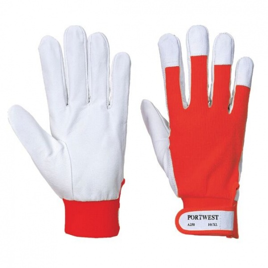 Portwest Tergsus Red Leather Gloves A250RE