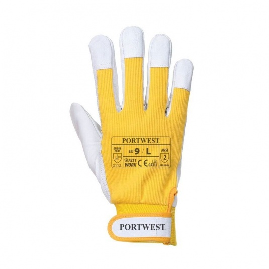 Portwest Tergsus A251YE Microfibre All-Round Yellow Gloves