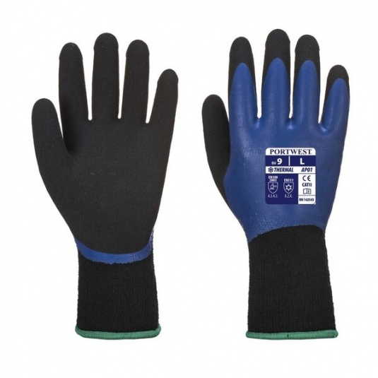 Portwest Thermal Dual Latex Brushed Acrylic Gloves AP01