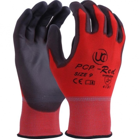 UCi PCP-Red PU Palm-Coated Lightweight Gloves