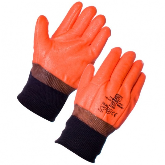 Supertouch Thermal PVC Hi Vis Knit Wrist Gloves 23353
