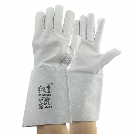 Supertouch TIG Welder Leather Gauntlet Gloves 20753