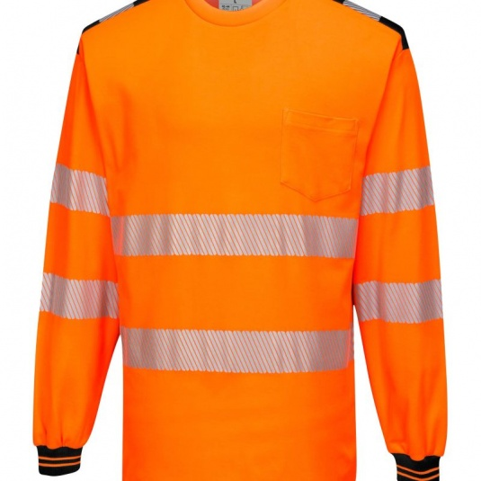 Portwest PW3 Hi-Vis T-Shirt with Long Sleeves T185