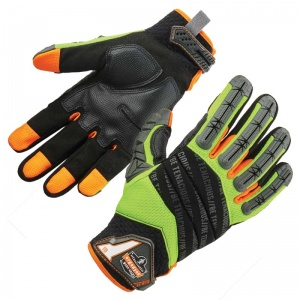 Ergodyne ProFlex 924 Hi-Vis Dorsal Impact-Reducing Gloves