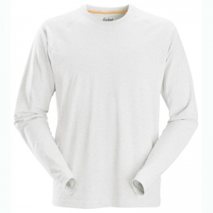 Snickers 2410 AllRoundWork White Long Sleeved T-Shirt